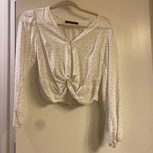 Abercrombie and Fitch PolkaDot Long Sleeve Crop